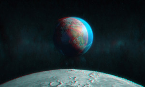Moon View – Stereoscopic 3D