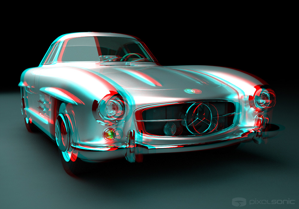 Mercedes 300 sl stereoscopic 3d