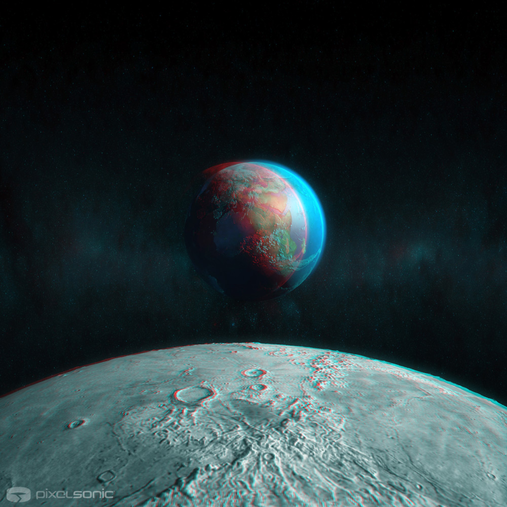 Moon View - Stereoscopic 3D