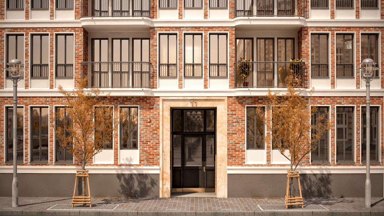 Residential Building Autumn