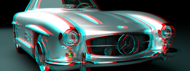 Mercedes 300 SL – Stereoscopic 3D